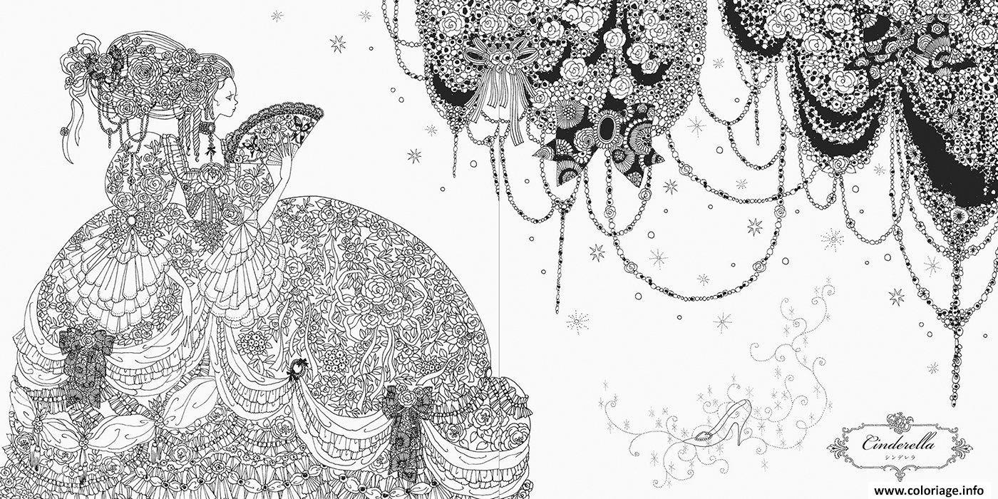 Coloriage Mandala Disney Princesse Cendrillon Dessin  Imprimer