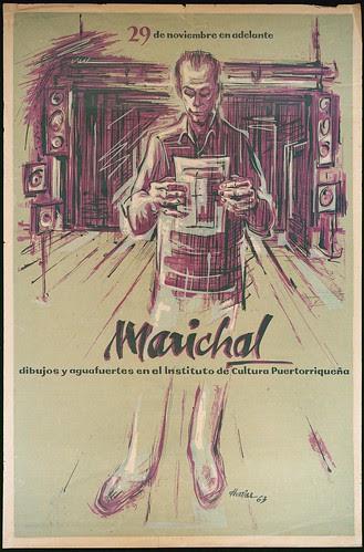Marichal dibujos y aguafuertes en el Instituto de Cultura Puertorriquena