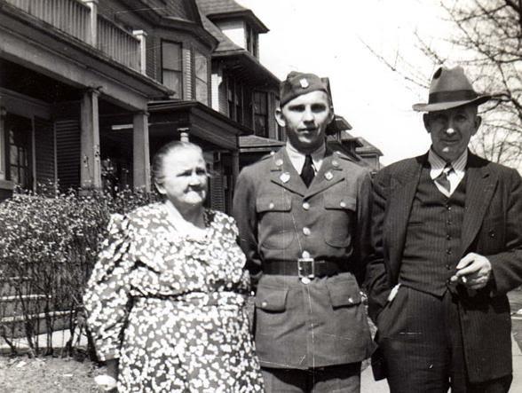 Richard Perzyk con i genitori