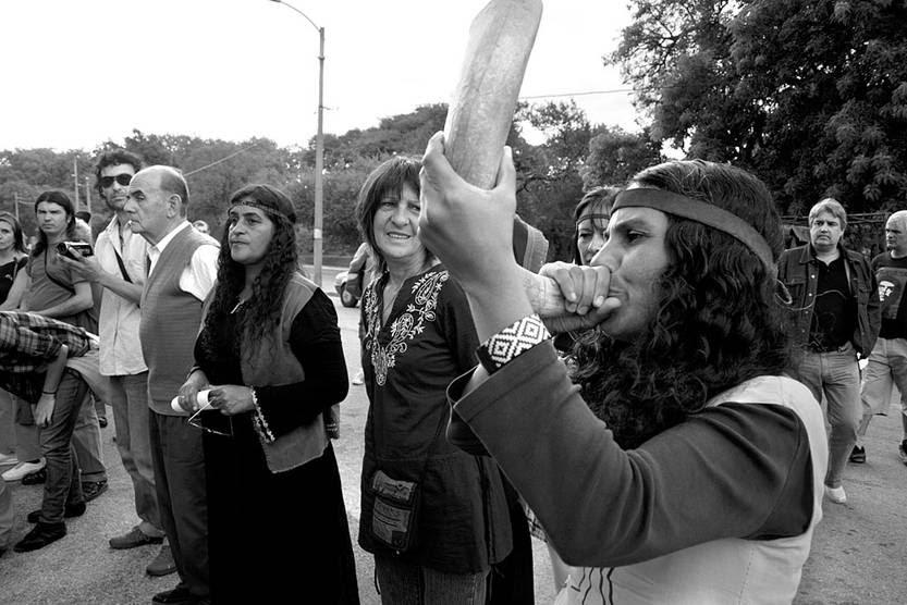 Conmemoración del Día de la Nación Charrúa y la Identidad Indígena. Foto: Victoria Rodríguez (archivo, abril de 2010)