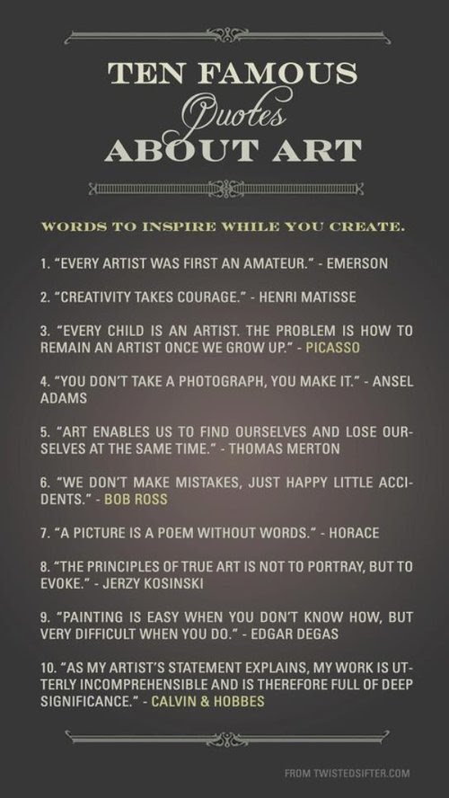 10 Famous Quotes About Art  Artist Run Website