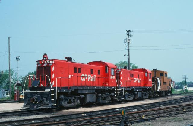 CP 8041 and 8038 in McAdam. Slide by Carl G. Perelman.