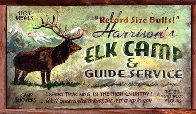 signs Novelty Elk Wood  Rustic  Signs Large  rustic advertising 20x32 Rustic  Signs, Camp  Sign,