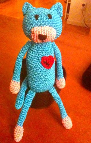 Edith the crochet cat