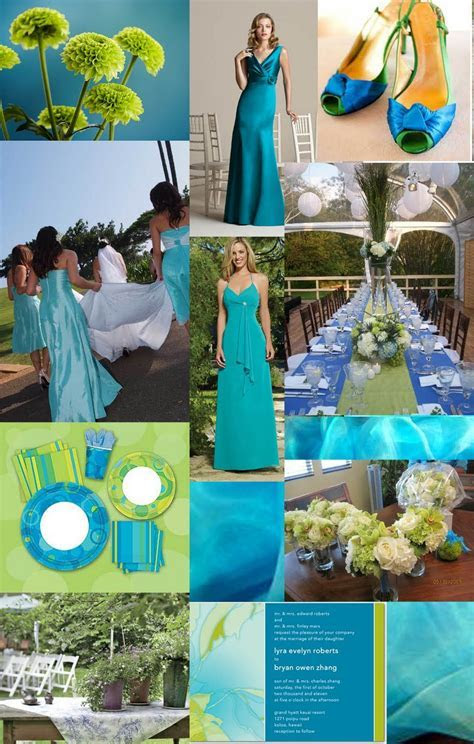 Blue Green Turquoise Wedding #Inspiration #details #