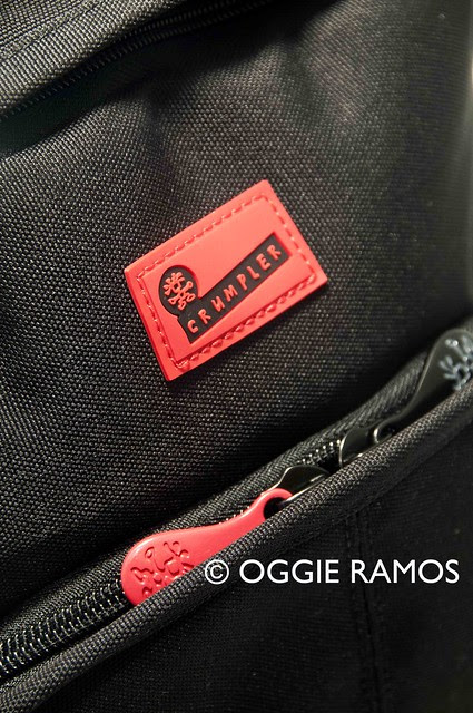 Crumpler 5M$Home Backpack Logo and Zipper Details