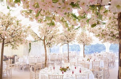 Transform your wedding reception into a cherry blossom