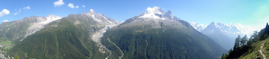 panorama glaciers