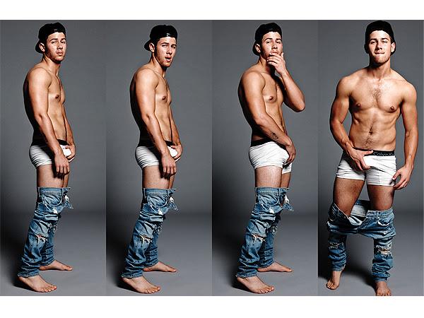 Nick Jonas underwear Flaunt magazine