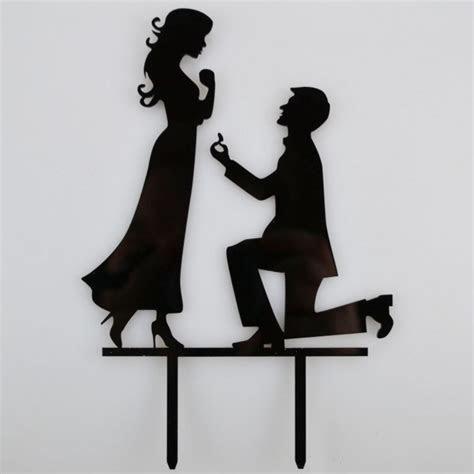 Engagement Proposal Bride & Groom Acrylic Wedding Day Cake