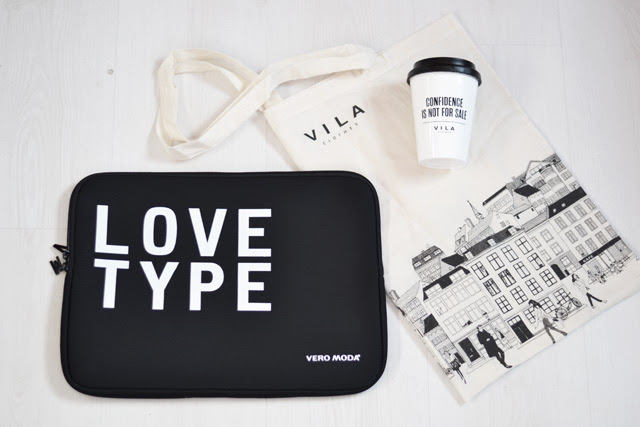 Goodiebag queens fashion store opening diest belgium shop vila pieces vero moda only laptop case paris no 7 take away cup nail polish canvas bag fashion blogger turn it inside out