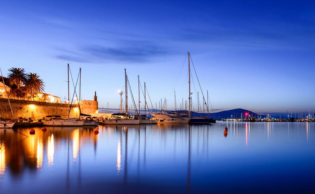 Alghero: blue hour
