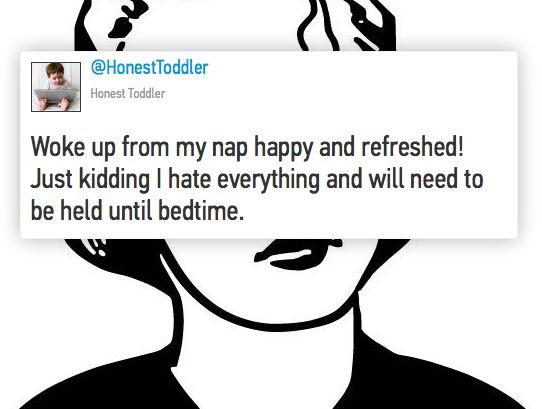 toddler tweets, naptime, grumpy toddler