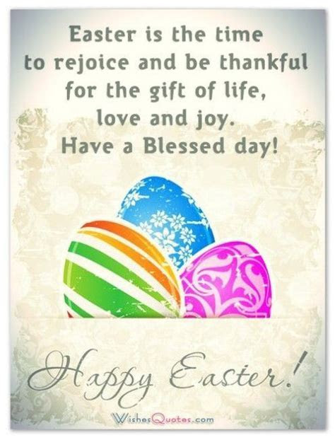 Easter Is The Time To Rejoice And Be Thankful For The Gift