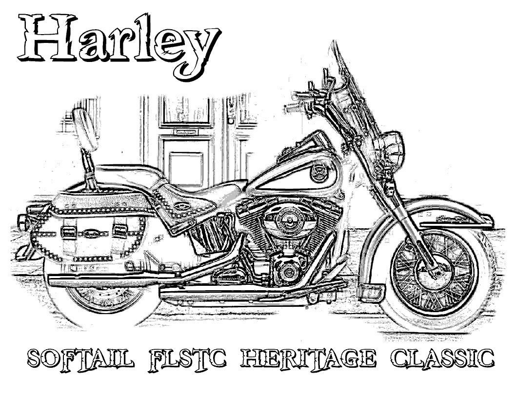 harley davidson coloring pages 8