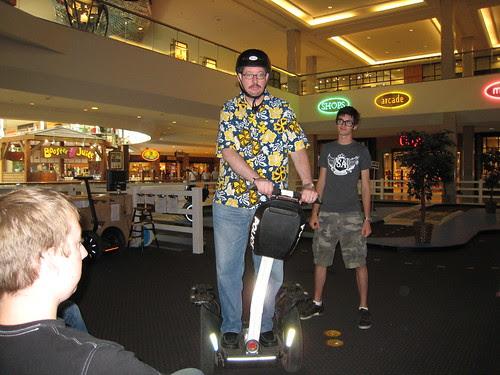 Riding a Segway