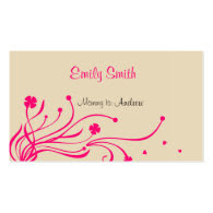 Pink Floral Mommy Calling Cards Business Card Templates