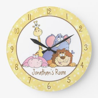 Jungle Baby Designs Round Wallclock