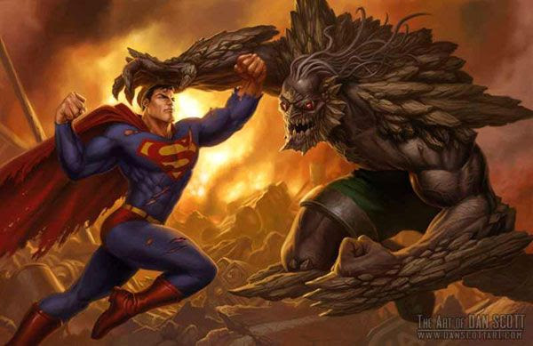 I can also picture Doomsday (after he's re-interpreted by Christopher Nolan) appearing in JUSTICE LEAGUE.
