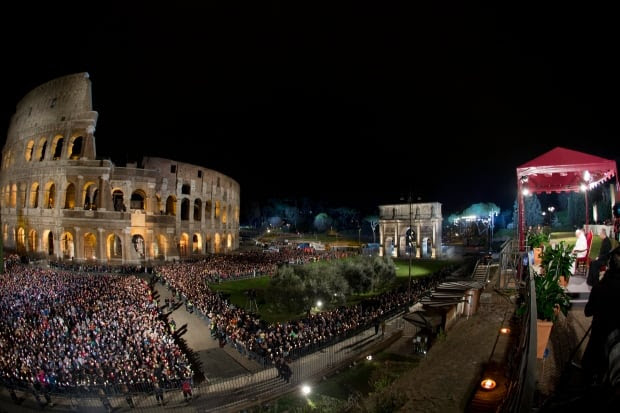 APTOPIX Italy Pope Good Friday