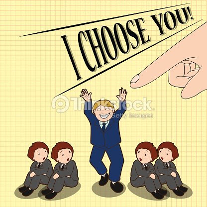 Vector De Dibujos Animados Título Elija Usted Concepto De Negocio De