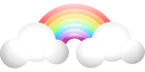 gambar vektor gratis pelangi awan hujan cuaca langit