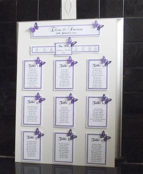 Personalised wedding seating plan   Jacinta's wedding idea
