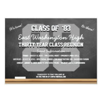 Custom Chalkboard High School Reunion Card