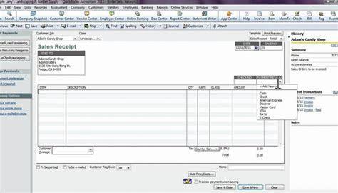 sales receipts  quickbooks williams cpa