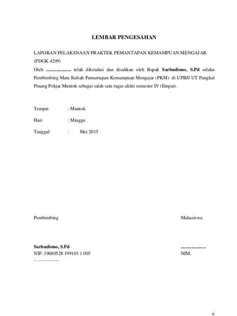 Contoh Cover Laporan Pkm Ut Kumpulan Contoh Makalah Doc Lengkap