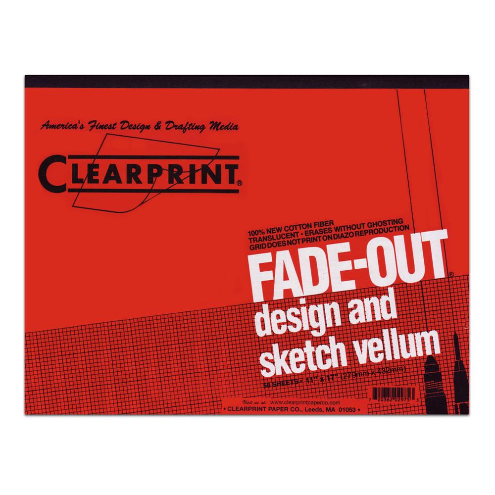 Buy Clearprint Vellum 1000hp 11x17 Pad 4x4