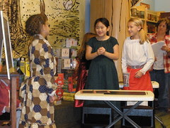Sophia in the Play at Barnes and Noble