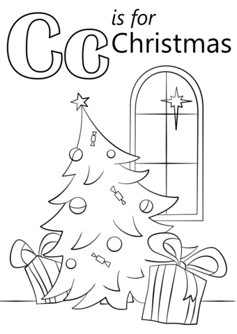 70 Christmas Coloring Pages By Letter  Images