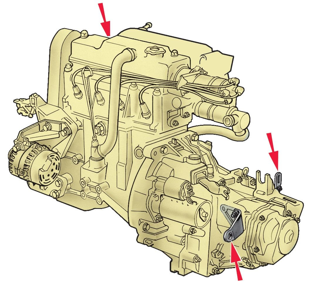 Откручиваем опоры двигателя лады гранты