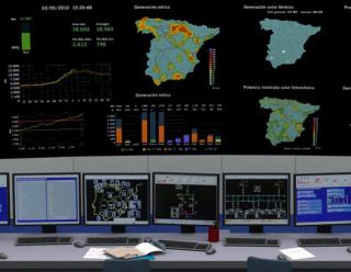 Centro de control de energías renovables de REE