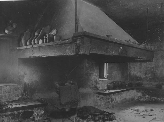 Cocina Palacio de Buenavista en 1915. Foto de Anna M. Christian. The Hispanic Society of America