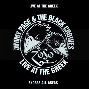 Album cover: Jimmy Page and The Black Crowes, 'Live at The Greek'