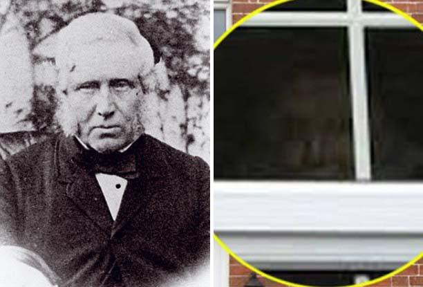 fantasma ventana casa Mujer fotografía un fantasma mirando por la ventana de su casa
