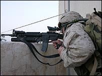 Marine in combat (Falluja)