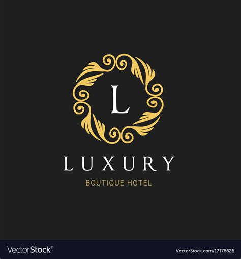 luxury logo crests logo logo design  hotel vector image