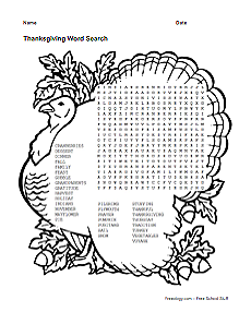 1000+ images about Word Search Puzzles on Pinterest | Thanksgiving ...