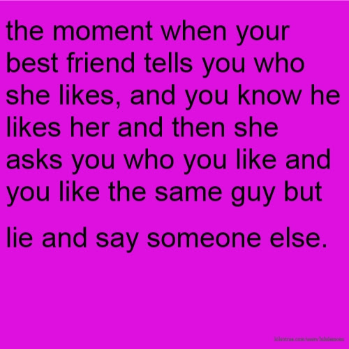 When a guy friend likes you