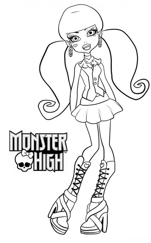 Coloriage A Imprimer Monster High Draculaura Gratuit Et Colorier