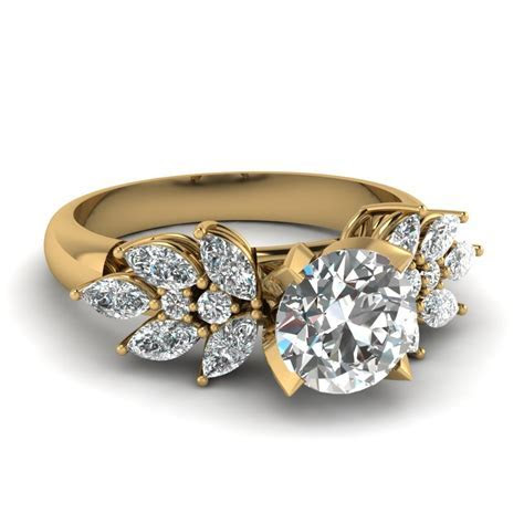 18k Yellow Gold Engagement Rings  Fascinating Diamonds