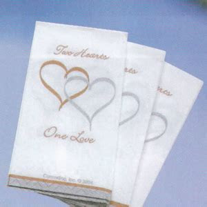 Two Hearts One Love Pocket Tissue   Love or Heart Wedding