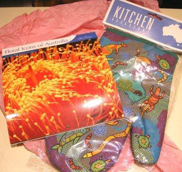 Blogging By Mail 10 Things: 2009 Calendar and Kitchen Mitt