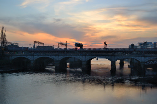 Sunset Over The Bridges by Click And Pray