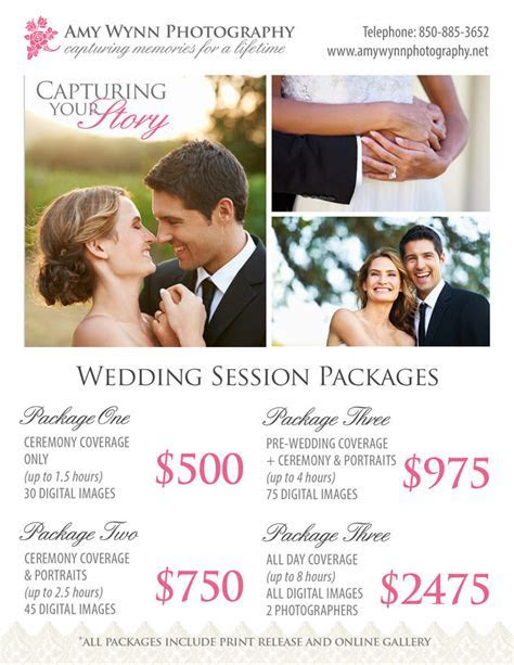 Wedding Photography Price Sheet ~ Templates on Creative Market