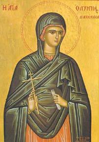 Sainte Olympiade de diaconese († v. 410)