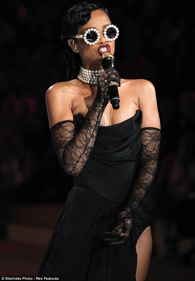 Uber-talented: Rihanna rocked the annual festival of flesh